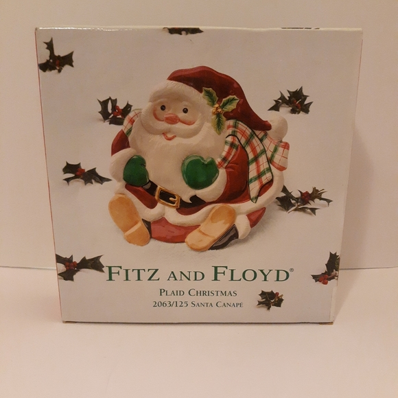 Fitz and Floyd Plaid Christmas